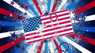 US Patriotic Grunge Flag