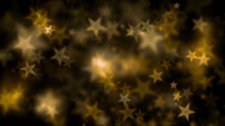 Yellow Bokeh Star Lights Motion