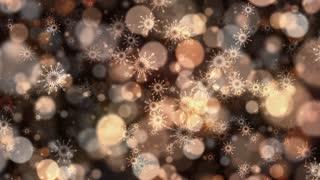 Warm Bokeh Snowflakes