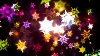 Warm Colorful Snowflakes