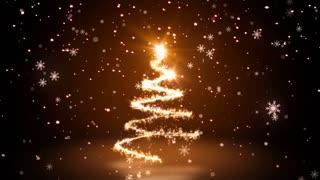 Warm Glittering Sparkles christmas Tree