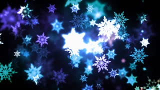 Winter Colorful Snowflakes