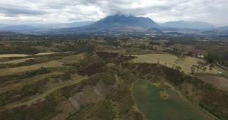 Aerial Fly over Reverse Rural Ecuador