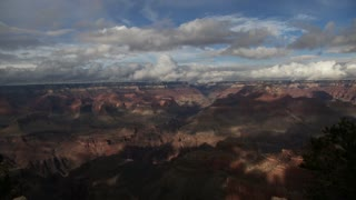 America's Grand Canyon - Fast Moving Clouds Time Lapse