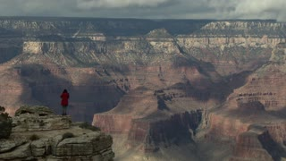 America's Grand Canyon - Woman standing on edge