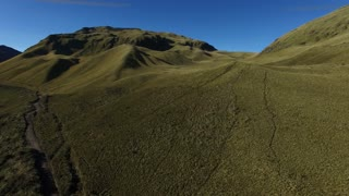 Ecuador hills above the mountain tree line - minimal vegetation