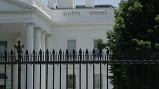 Establishing shot of Washington DC White House - President of the United States
