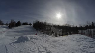 Extreme Slow Motion Winter Extreme Sport - Ski Hill Tricks