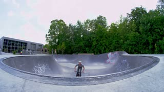 Extreme Sport BMX Bike Rider doing Tricks