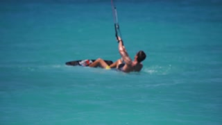 Extreme Sport - Kite Boarding in the Ocean