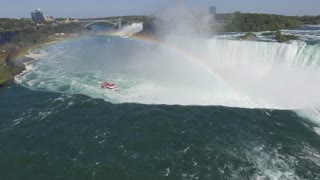 Majestic Fly Over Aerial View of Niagara Falls - 4K Ultra HD