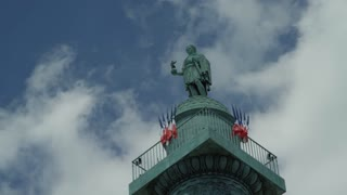 Paris France Time Lapse - Tower Monument at Place Vendome
