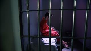Prison cells in Jail - mental health man suffering in jail