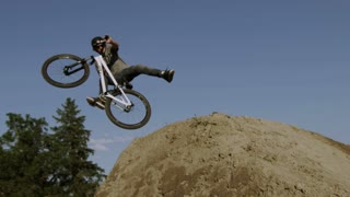 Slow Motion BMX Crash - Rider falls forever