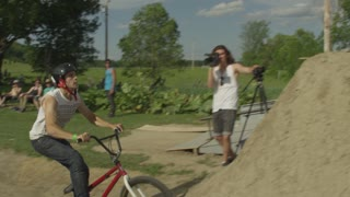 Slow Motion BMX Dirt Jumping - Extreme Sports - Athletes