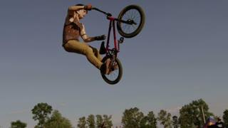 Slow Motion Exteme Sport Bike Crash