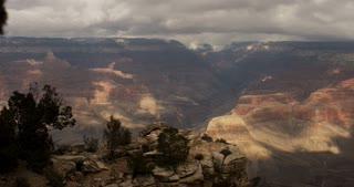 Slow pan across grand canyon in Arizona USA