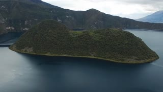 The Cuicocha lake volcano crater in Ecuador