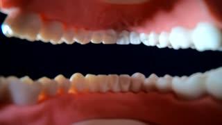 Dentist tools dark background