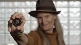 Ethereum Coin Held By Cool Grandma Investing