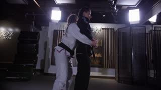 Female martial arts training