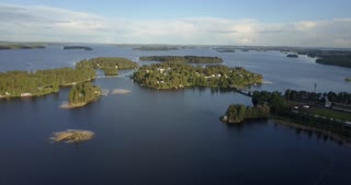 Finland Aerial Of Natural Summer Beauty On The Water
