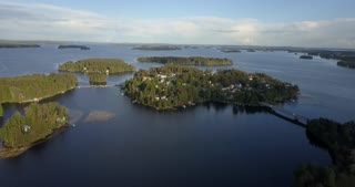 Kuopio Finland Homes On An Island In Beautiful Northern Europe Aerial