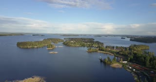 Kuopio Finland Nature Aerial Of Islands On Water