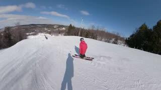 Ski tricks on snow hill winter extreme sports