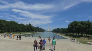 Washington Monument Steadicam Shot of DC tourist attraction