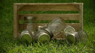 Western Historical Re-enactment - Old jars of moonshine