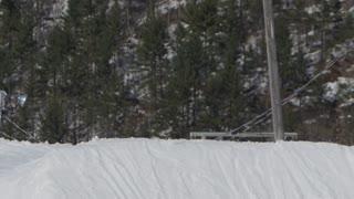 Winter Slow Motion Extreme Sports - Ski Pro Doing Tricks