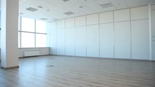 Business Team Comes in an Empty Office