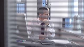 Businessman Solving Complex Business Problems