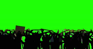 Concert Crowd, These people are real, shot on green screen