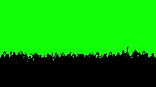 Crowd of people. Green screen