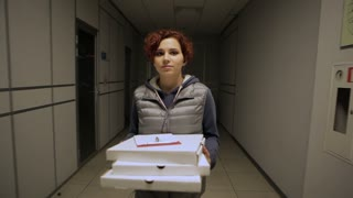 Evening Pizza Delivery To Business Center