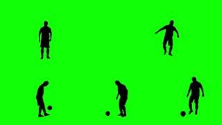 Footballer juggling the ball