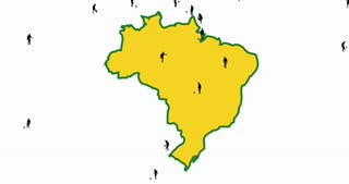 Map of Brazil. The cities in which the World Cup takes place