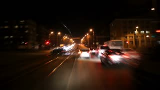 Night Timelapse of a wide avenue
