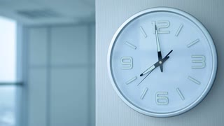 Office Work Begin at Eight/The working day begins at 8 a.m. Clocks showing eight