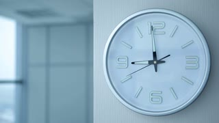 Office Work Begin at Nine/The working day begins at 9 a.m. Clocks showing nine