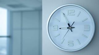 Timelapse of Office Clocks/Timelapse of office clock showing 9
