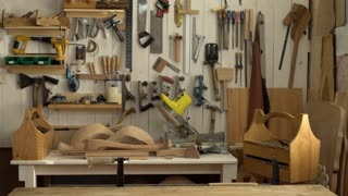 Cabinet Maker Begins his Working Day