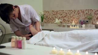 Woman Enjoying Stone Therapy