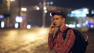Backpacker Speaks by Phone