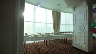 Buffet Table On Corporate Party