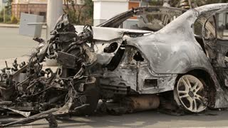 Car Burned After Explosion