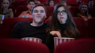Couple on a date at cinema