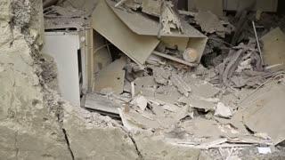 Destroyed Apartment in War
